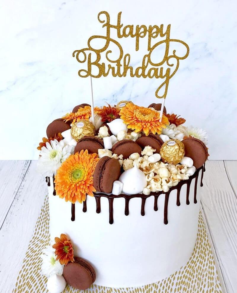 עוגת טפטופים ליום הולדת DRIP CAKE