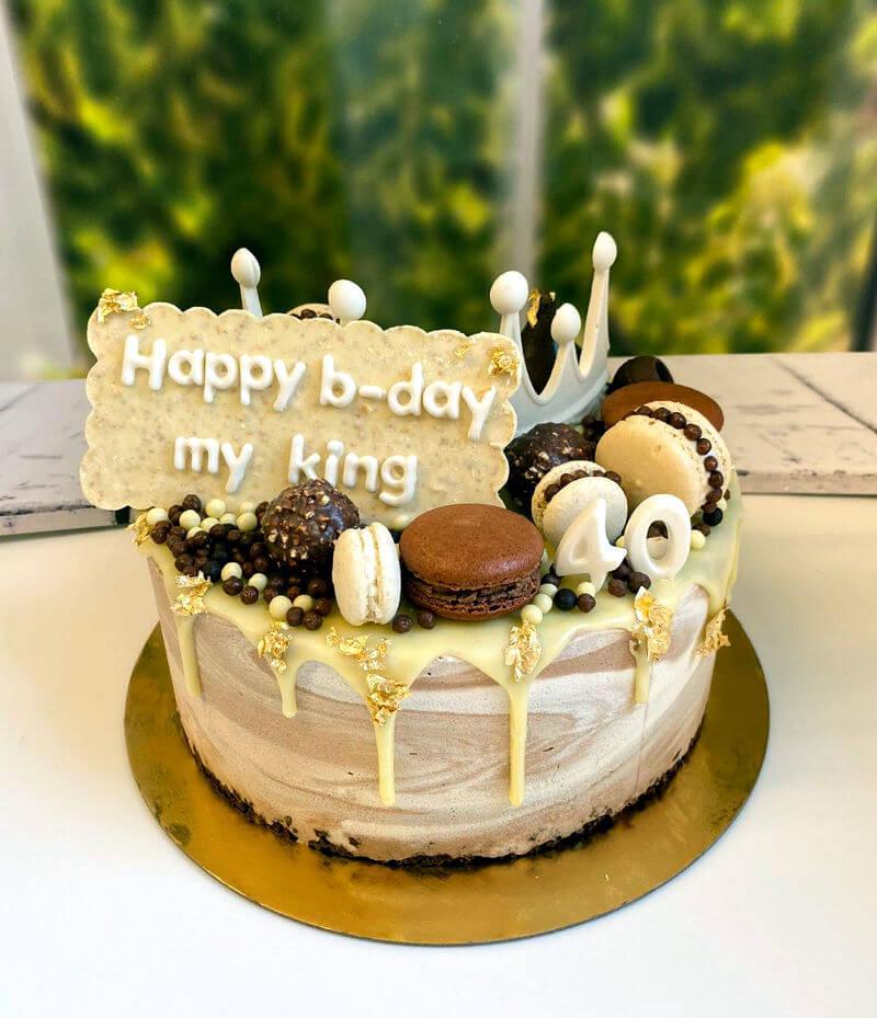 עוגת טפטופים מהממת עם מוס קינדר לגיל 40
