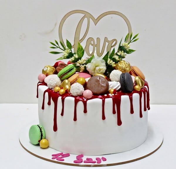 עוגת טפטופי גאנש וממתקים