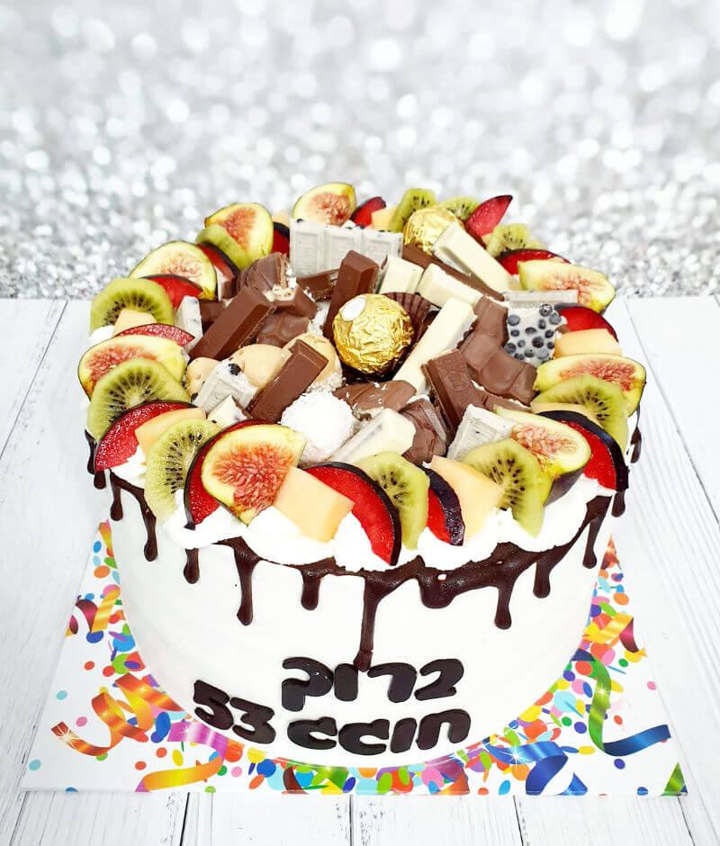 עוגת טפטופי גאנש פירות וממתקים