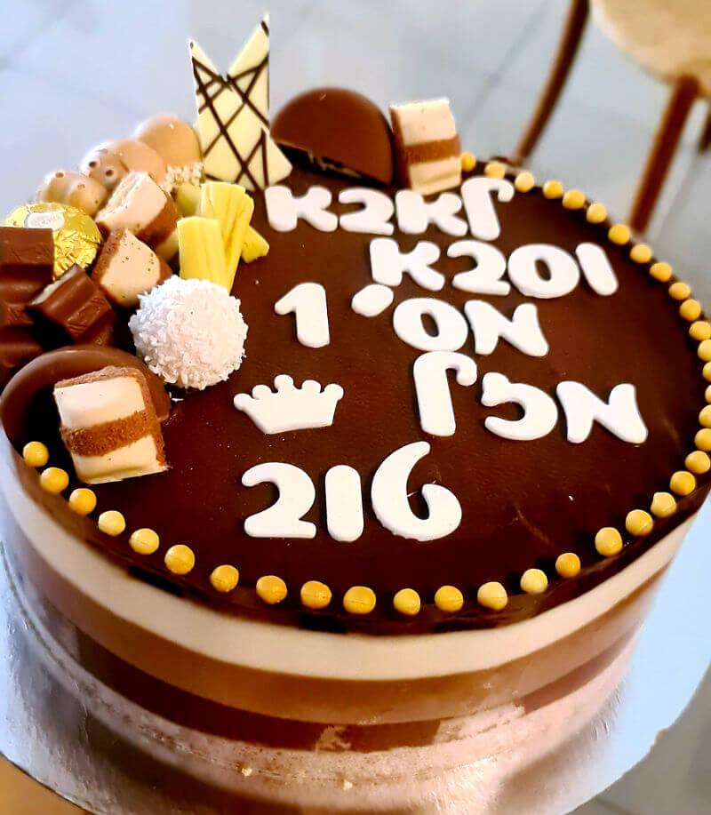 עוגת טריקולד ליוום הולדת לגבר