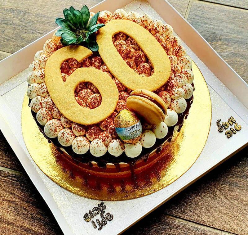 עוגת טריקולד מהממת ליום הולדת 60