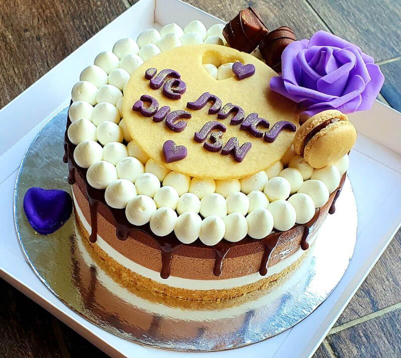 עוגת טריקולד מעוצבת לאשה