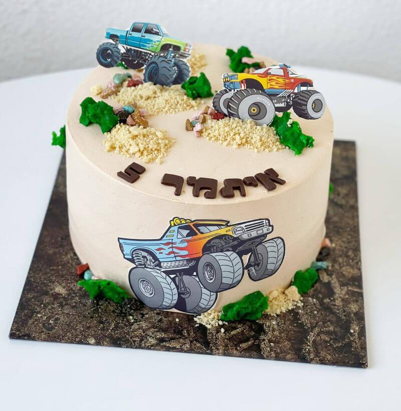 עוגת טרקטורים
