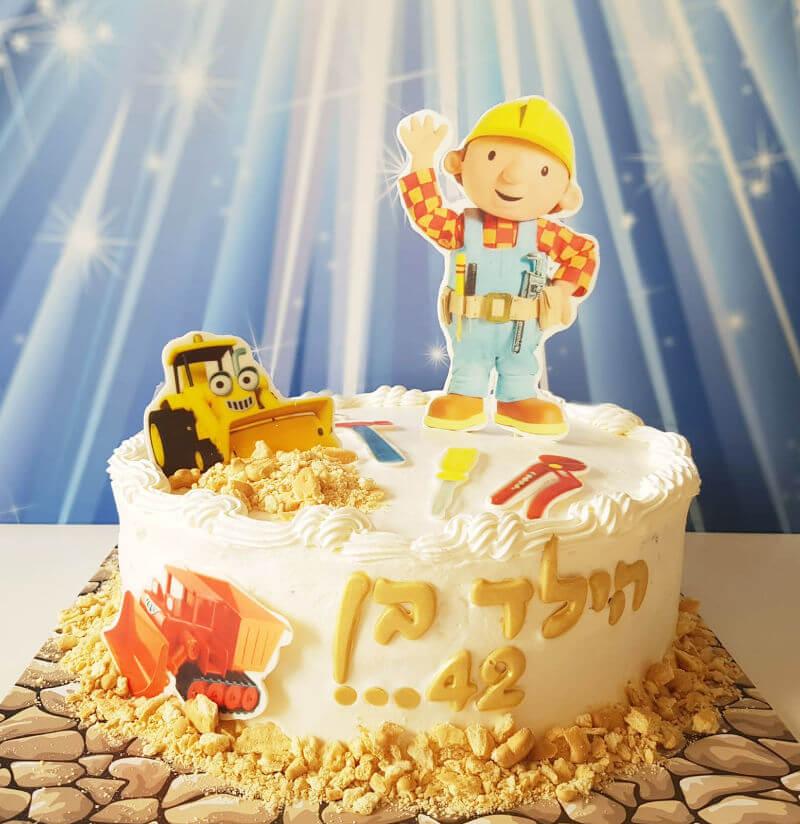 עוגת יום הולדת בוב הבנאי