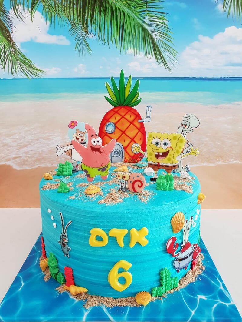 עוגת יום הולדת בוב ספוג