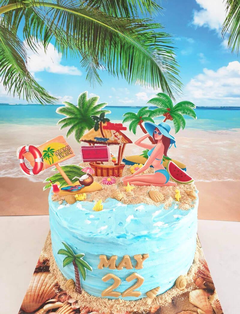 עוגת יום הולדת בחופשה