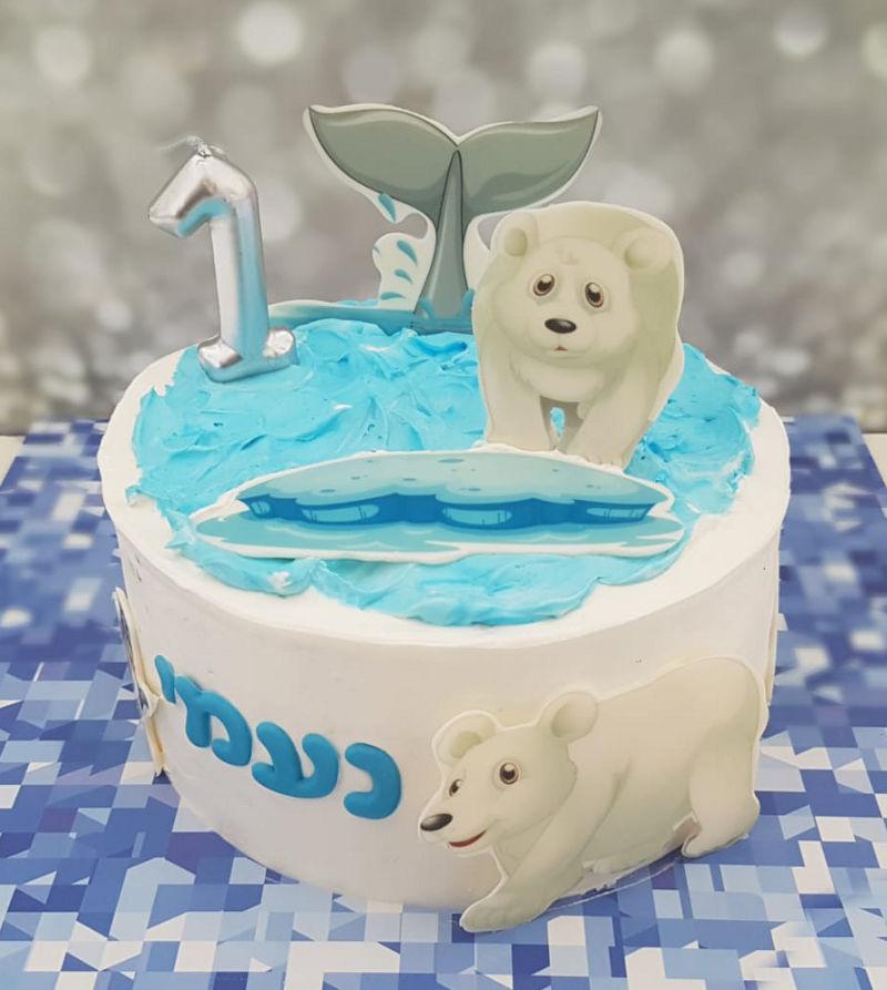 עוגת יום הולדת מיוחדת לבנות עם דובונים