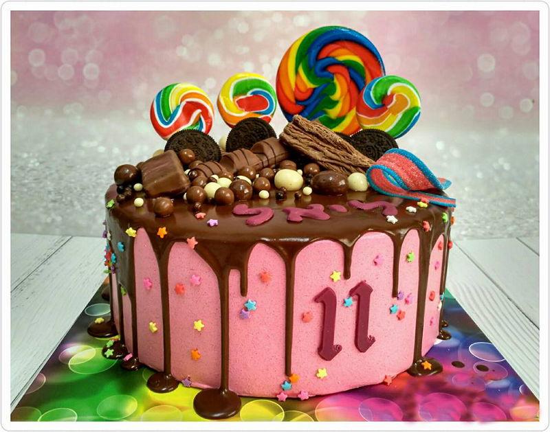 עוגת יום הולדת בנות ממתקים