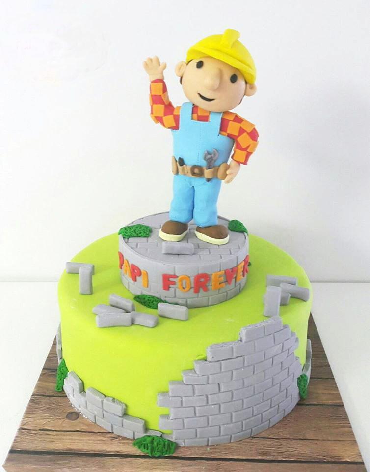 עוגת בוב הבנאי ליום הולדת
