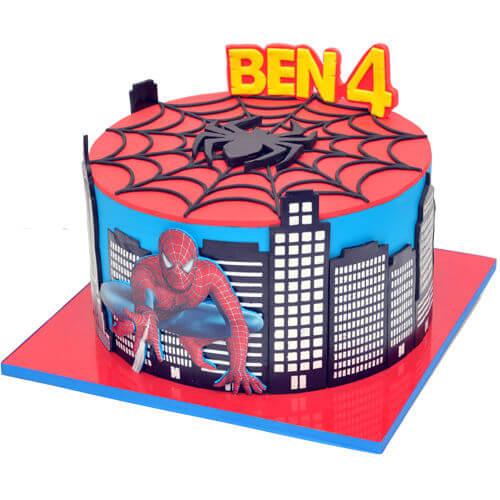 עוגת יום הולדת בנים ספיידרמן