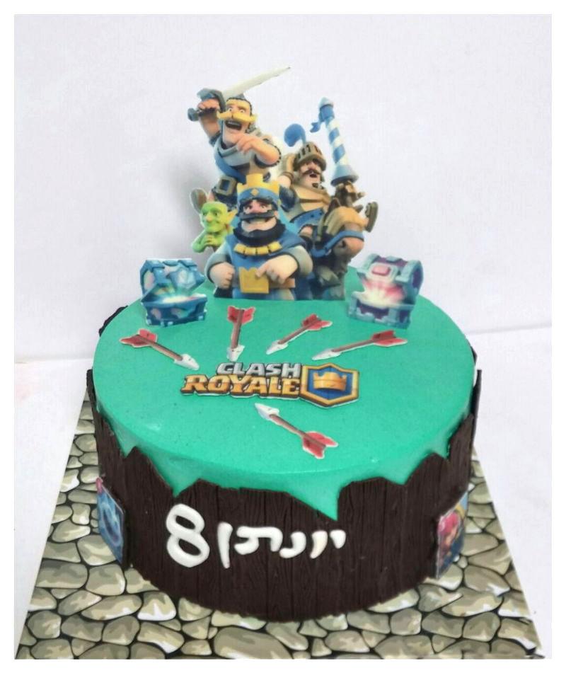 עוגת יום הולדת בנים קלאש רויאל