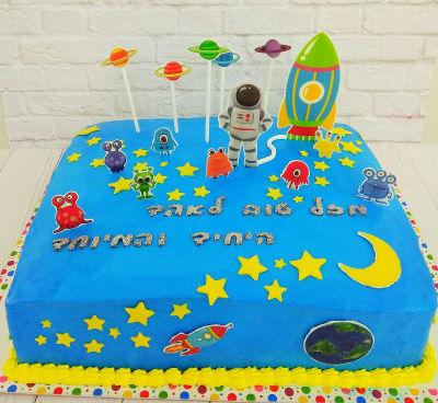 עוגת יום הולדת בעיצוב חלל