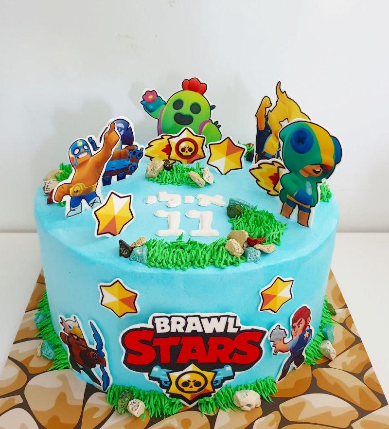 עוגת יום הולדת בראול סטארס