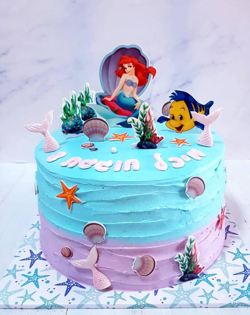 עוגת יום הולדת בת הים