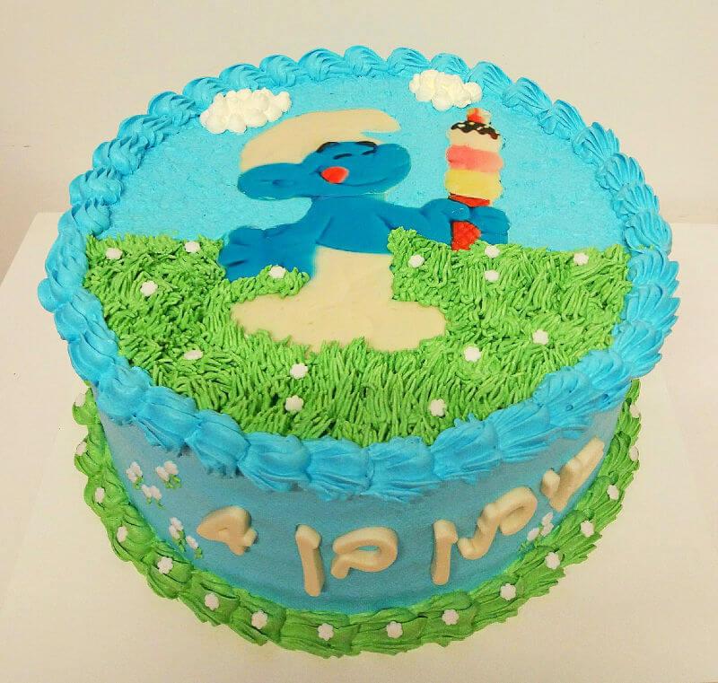 עוגת יום הולדת דרדסים