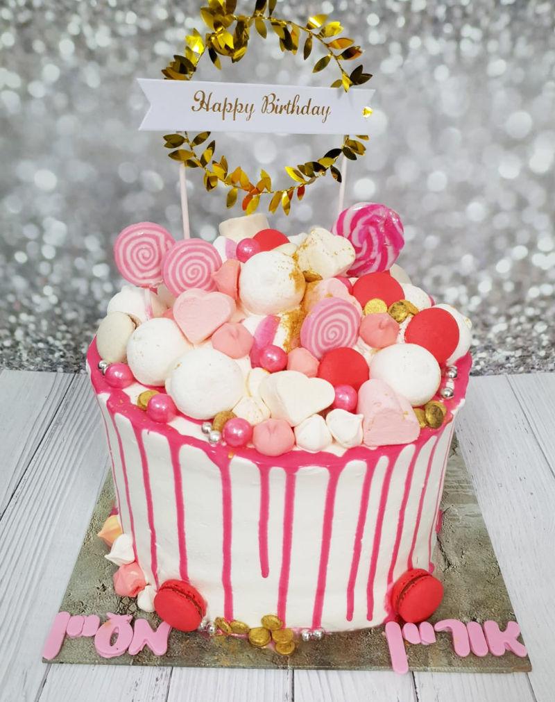 עוגת דריפ וממתקים ליום הולדת