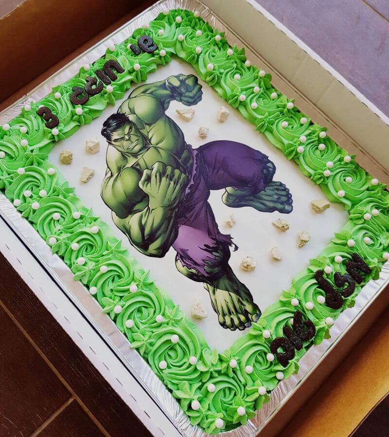 עוגת הענק הירוק מלבנית