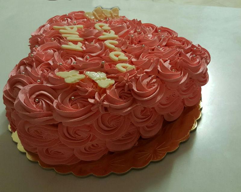 עוגת יום הולדת זילוף לב