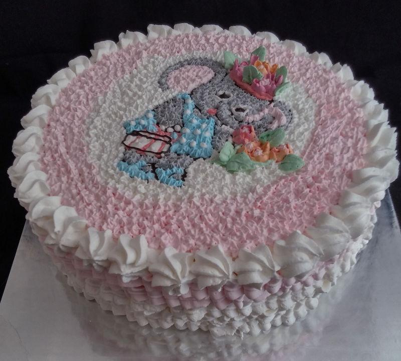 עוגת זילוף ליום הולדת שוקולד וניל