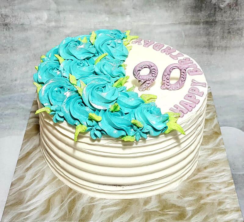 עוגת זילוף ליום הולדת 90