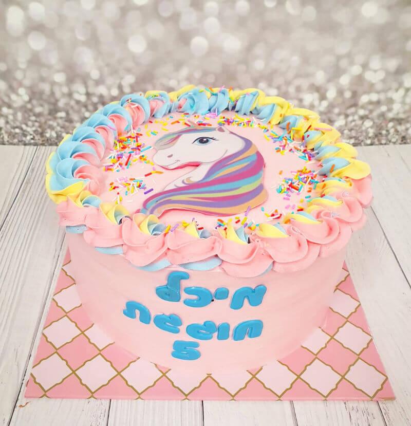 עוגת יום הולדת חד קרן