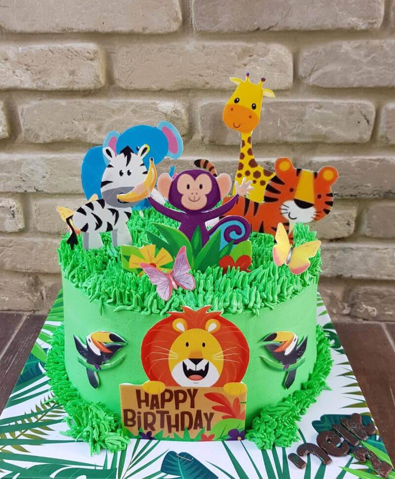 עוגת יום הולדת חיות