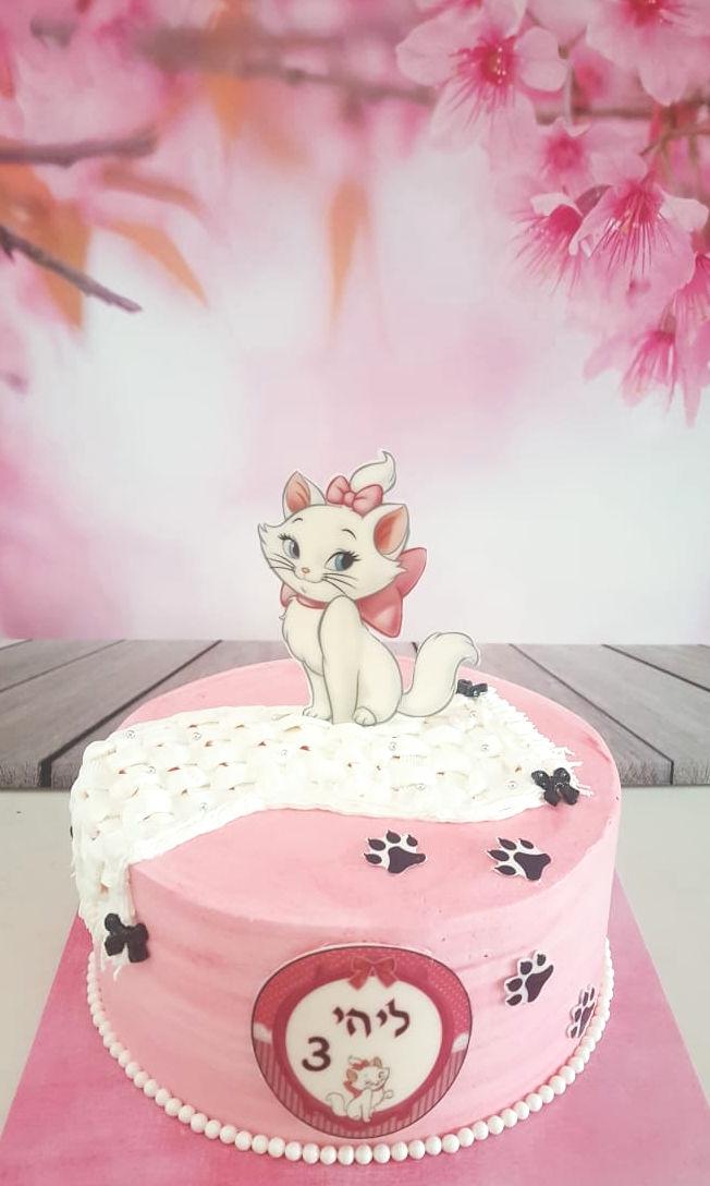 עוגת יום הולדת חתולה