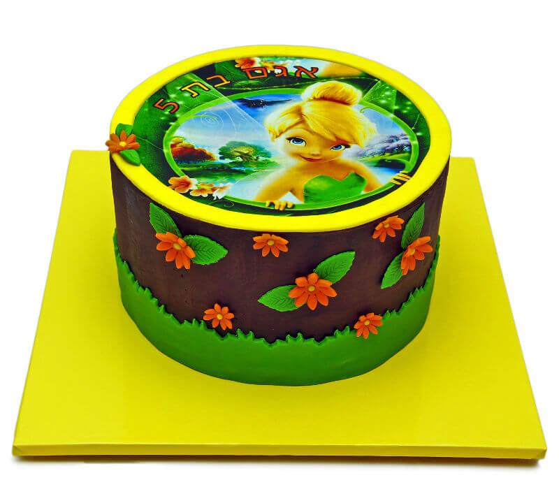 עוגת יום הולדת טינקרבל