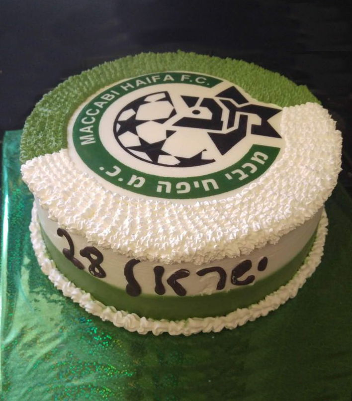 עוגת זילוף ליום הולדת כדורגל מכבי חיפה