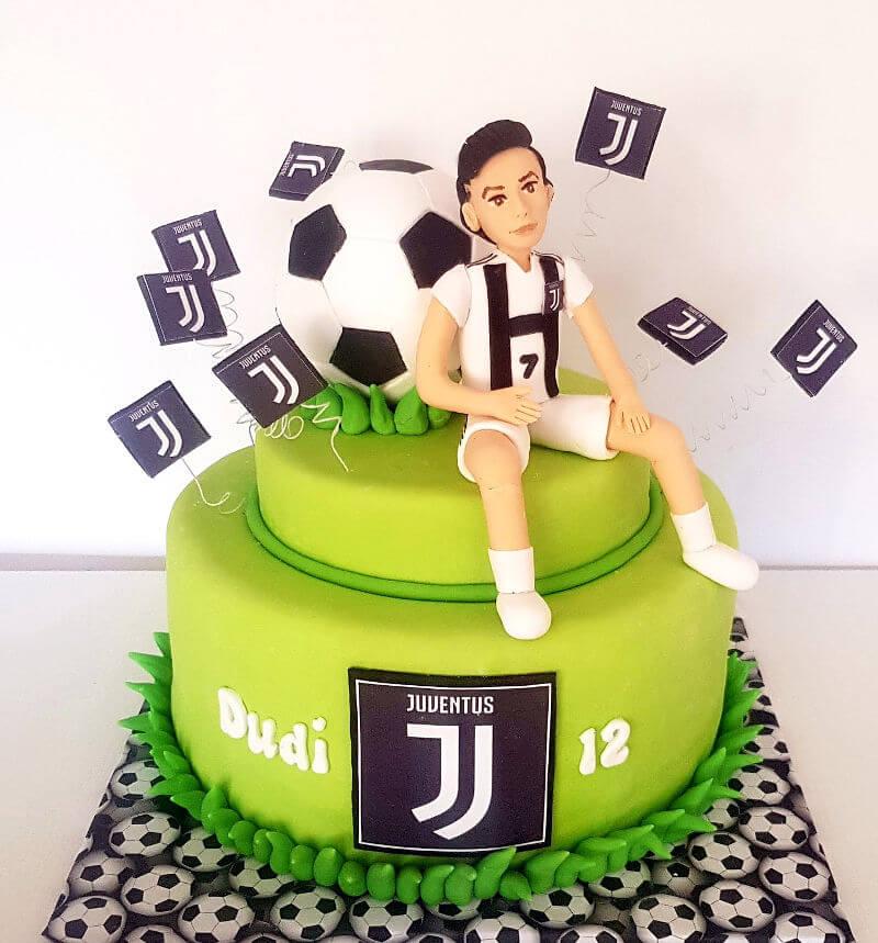 עוגת יום הולדת כדורגל יובנטוס