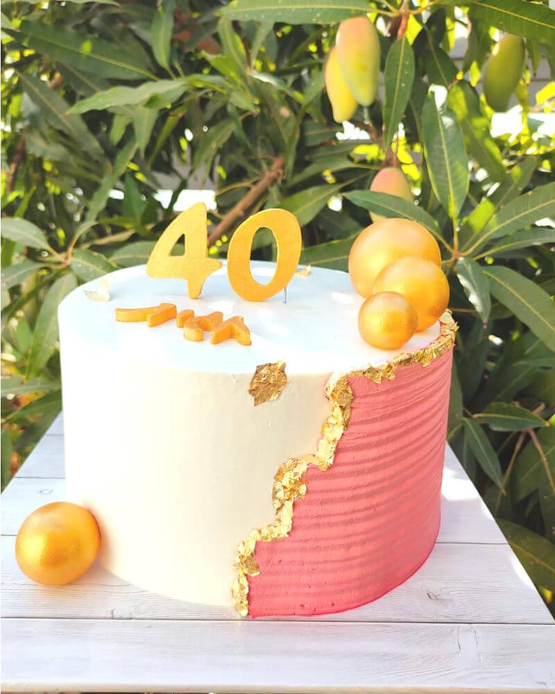 עוגת יום הולדת לאשה 40