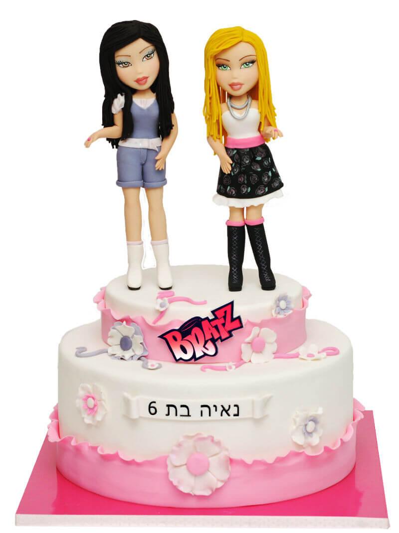 עוגת יום הולדת לבנות בראץ