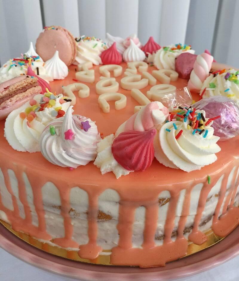 עוגת יום הולדת מעוצבת לבנות