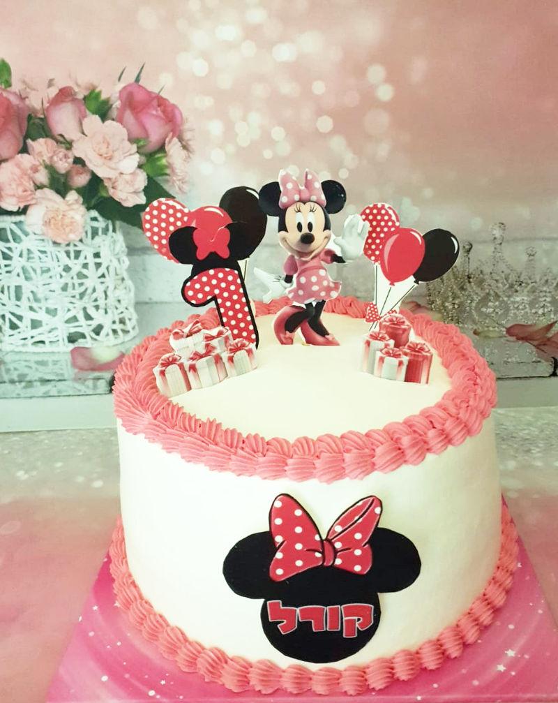 עוגת קומות יום הולדת לבנות מיני מאוס