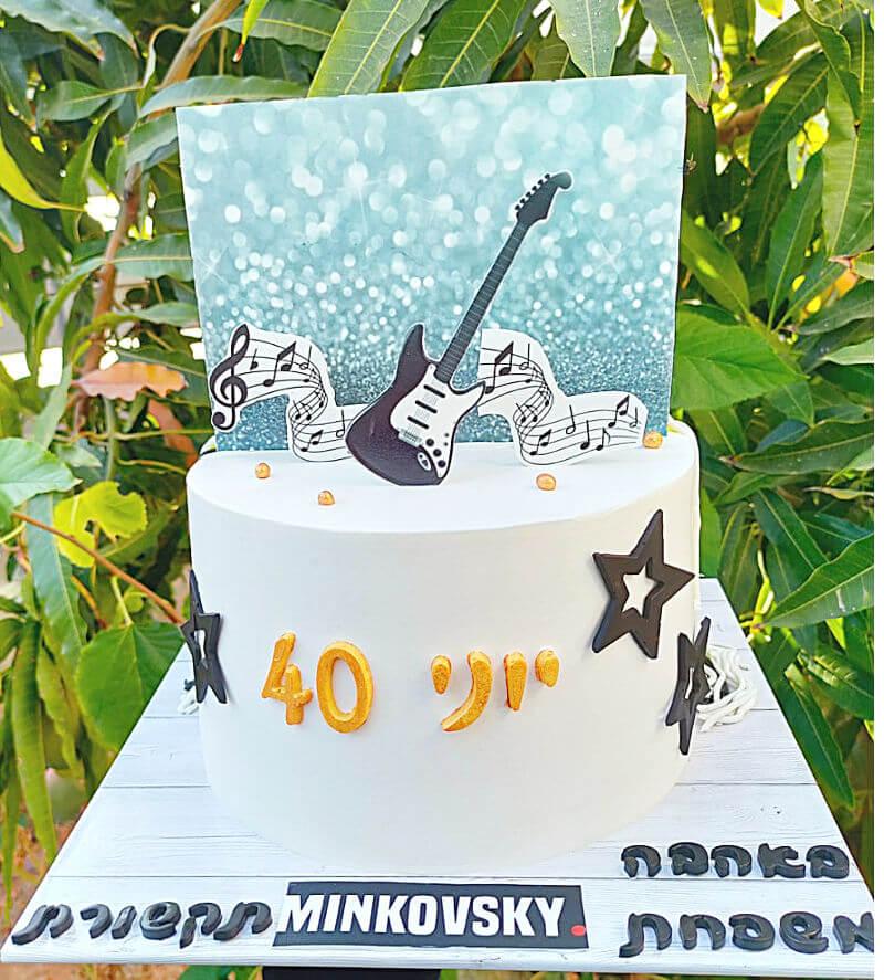 עוגת יום הולדת לגבר 40