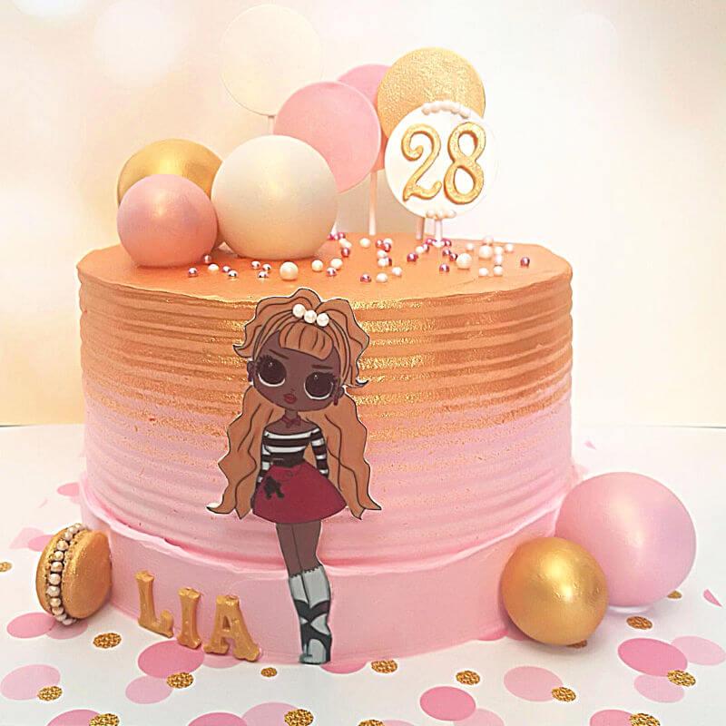 עוגת יום הולדת לול LOL