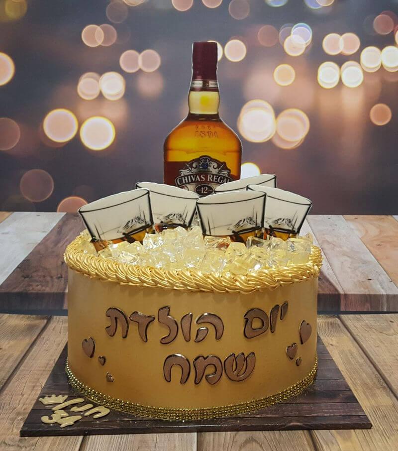 עוגת יום הולדת למבוגרים עם אלכוהול