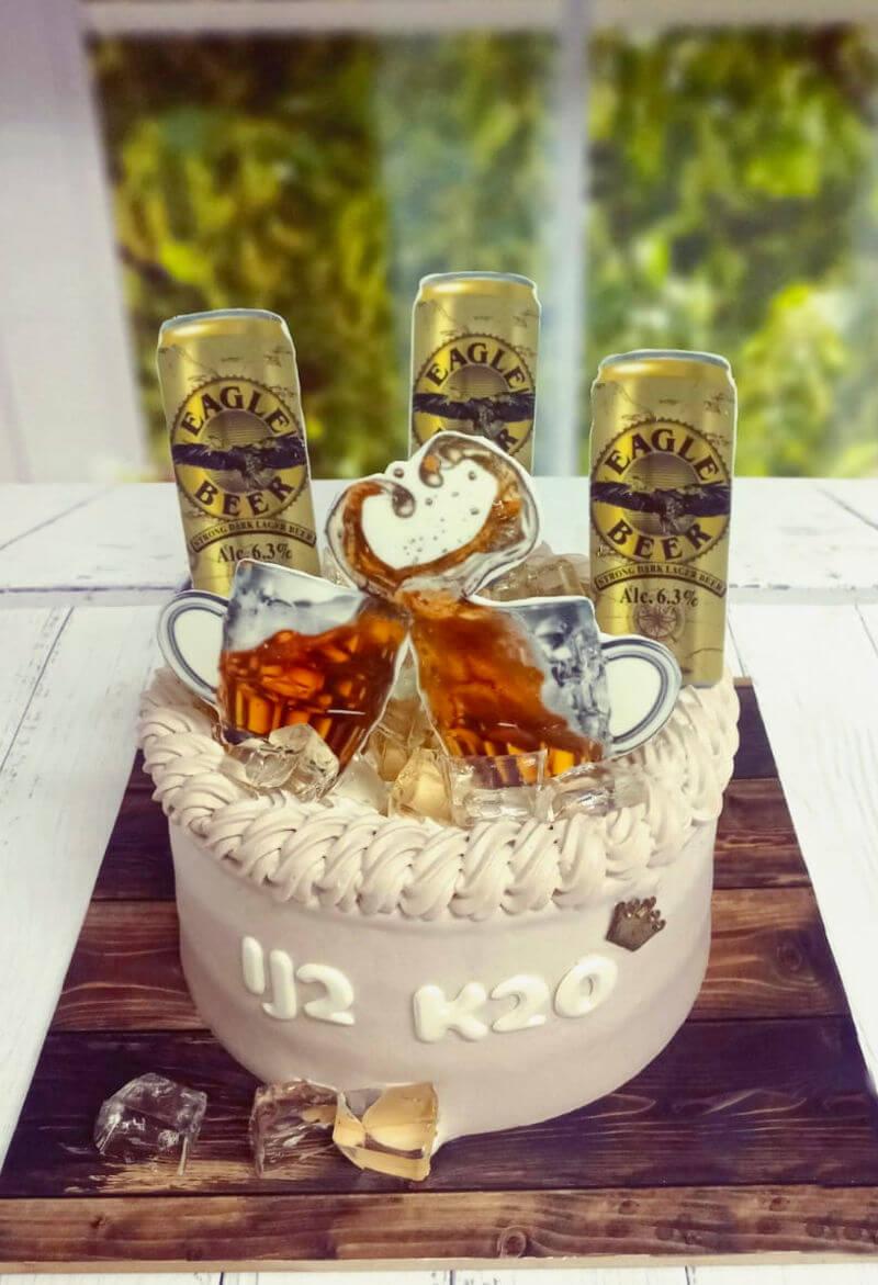 עוגת יום הולדת מעוצבת לסבא