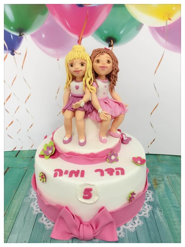עוגת יום הולדת לשתי בנות