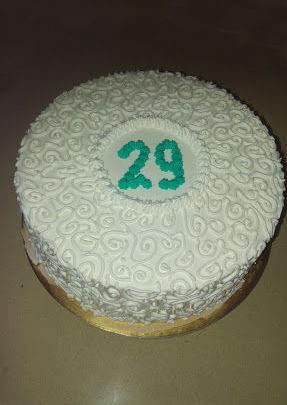 עוגת יום הולדת זילוף למבוגרים