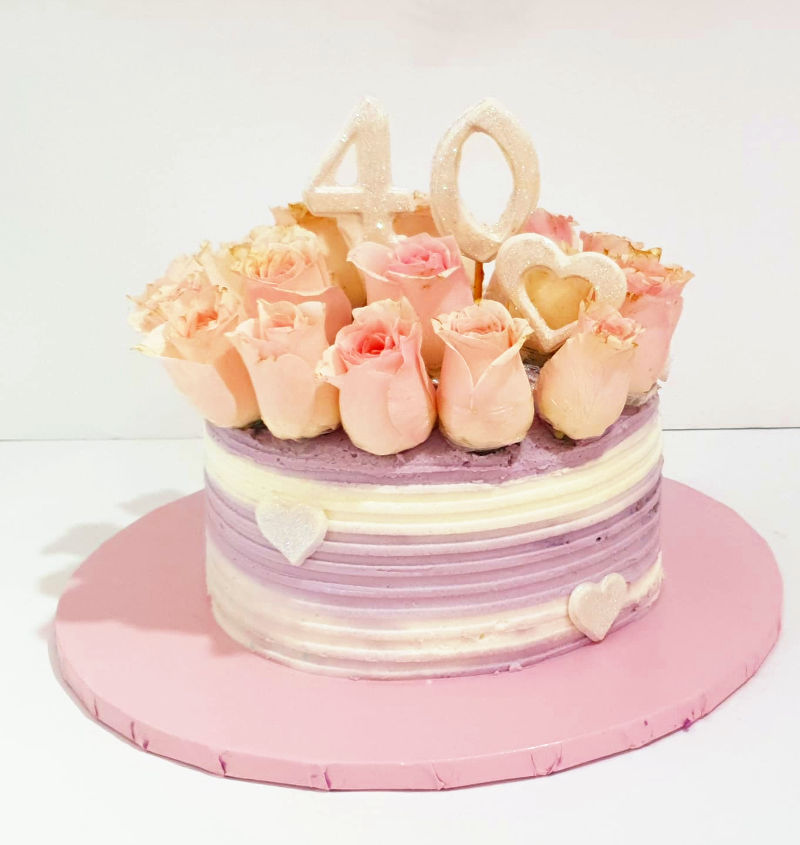 עוגת יום הולדת 40 לאשה