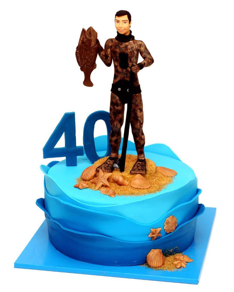 עוגת יום הולדת מבוגריםם לדייג
