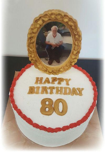 עוגת יום הולדת מבוגרים 80 עם תמונה