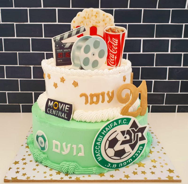 עוגת קומות יום הולדת לתאומים