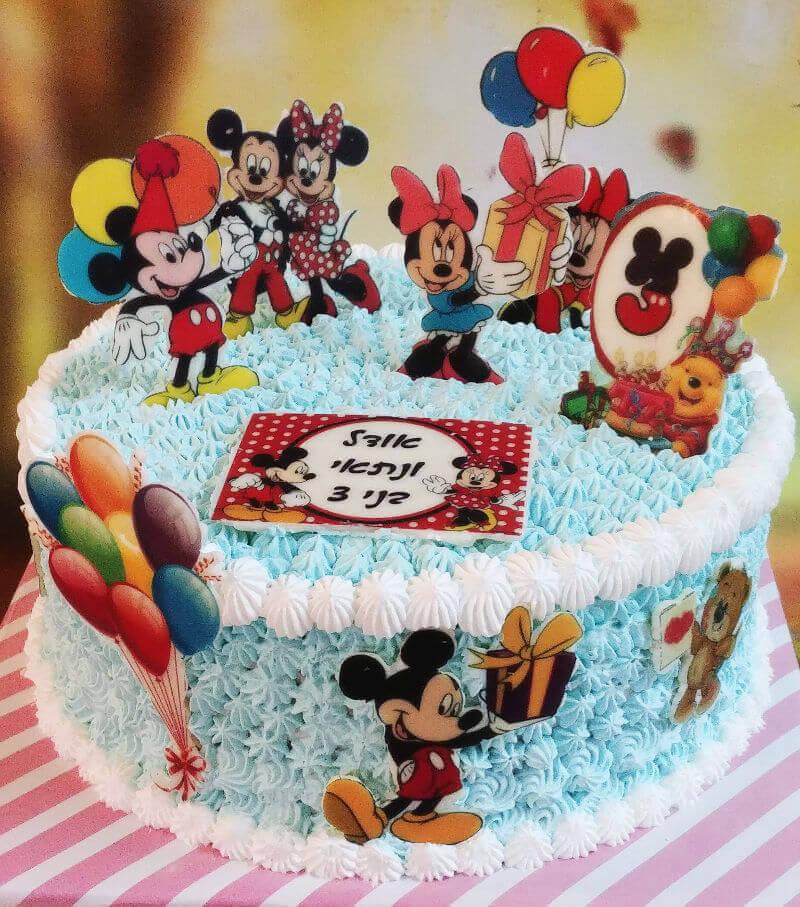 עוגת יום הולדת מיני ומיקי מאוס