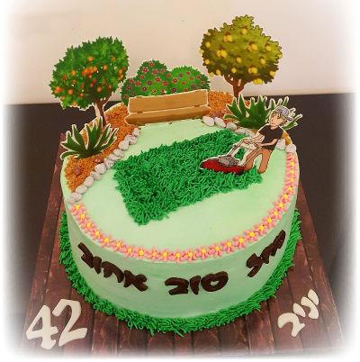 עוגת יום הולדת מעוצבת בטבע