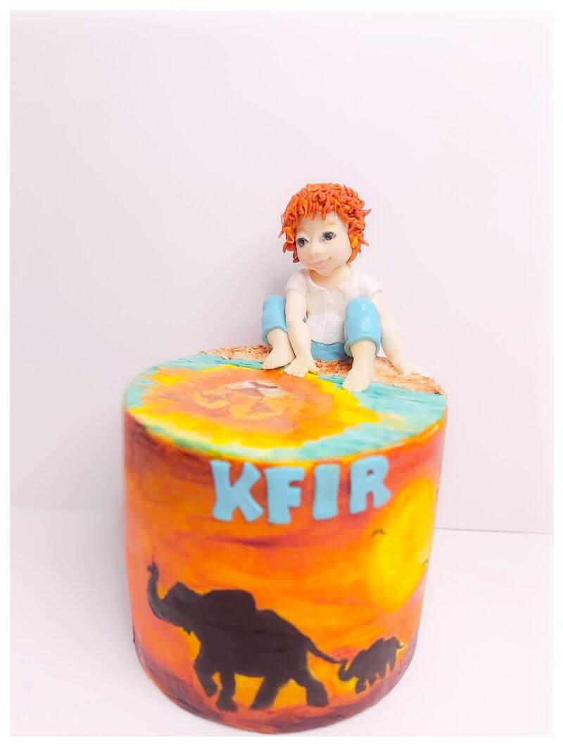 עוגת יום הולדת מעוצבת חיות