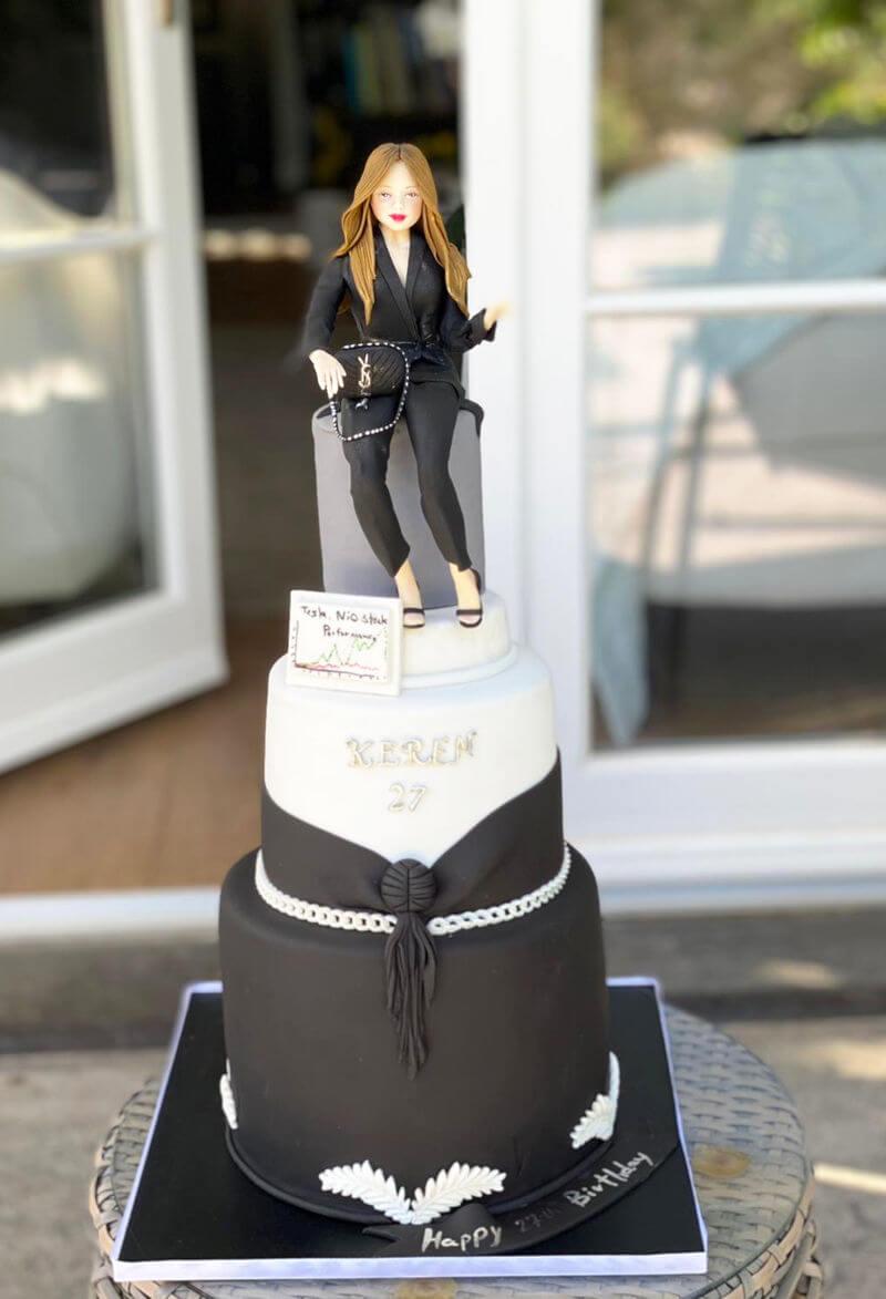 עוגת יום הולדתמעוצבת לאשה