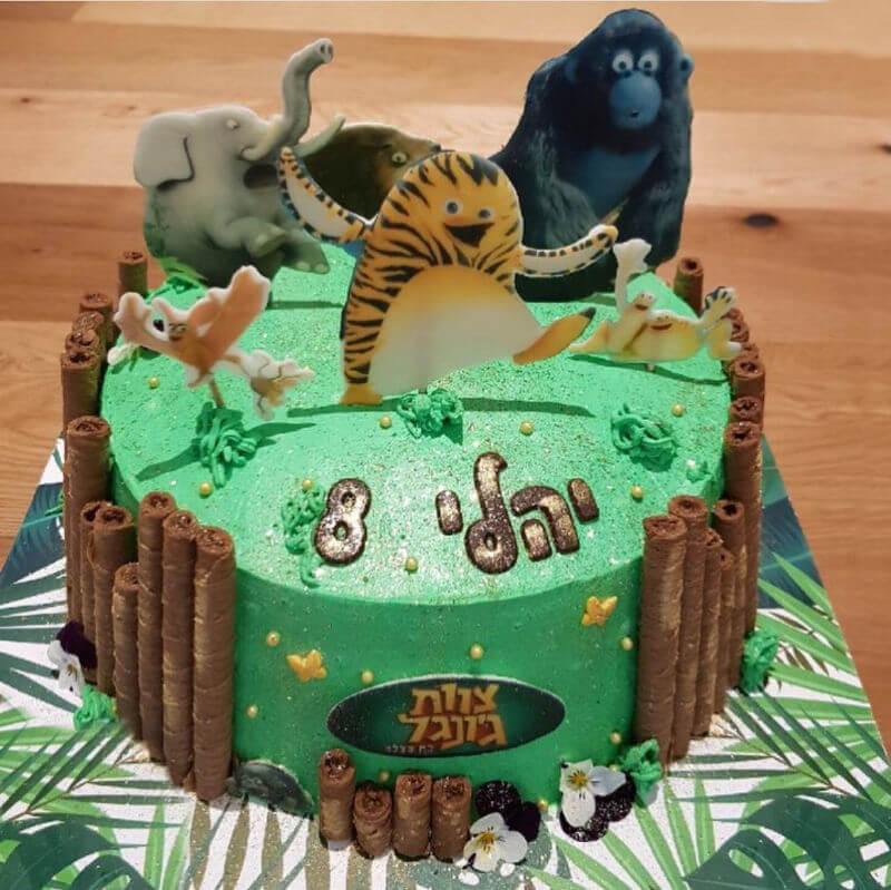 עוגה מעוצבת לבן צוות הגונגל